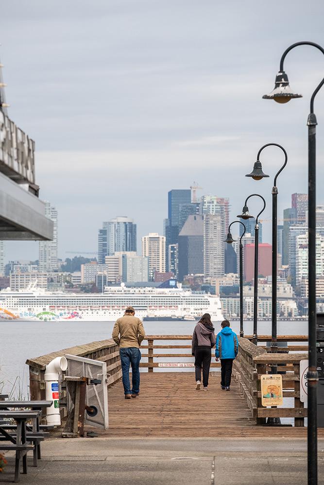 City Pier looking towards Seattle.