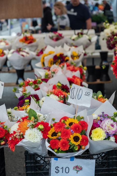 Farmer's Market flowers for sale.