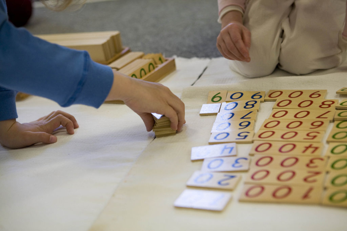 math blocks teaching large numbers in elementary school with hundreds thousands and millions orders of magnitude